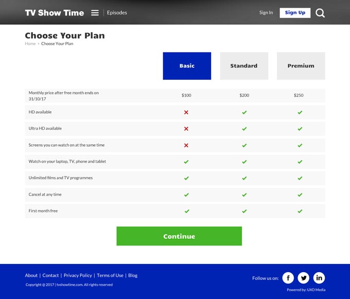 TV Showtime
